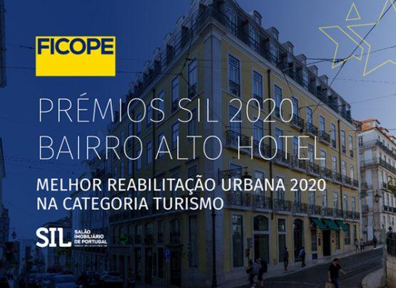 Prémios SIL2020 BAIRRO ALTO HOTEL melhor Reabilitação Urbana 2020, na categoria Turismo